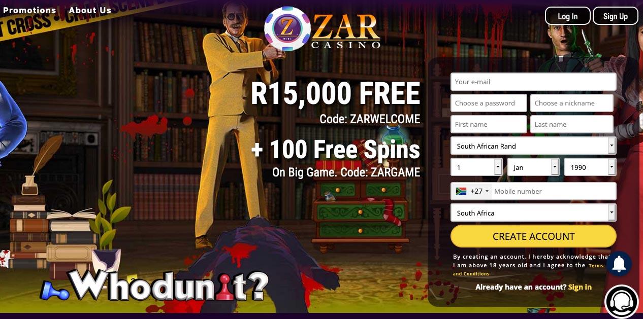 Zar Casino Online South Africa