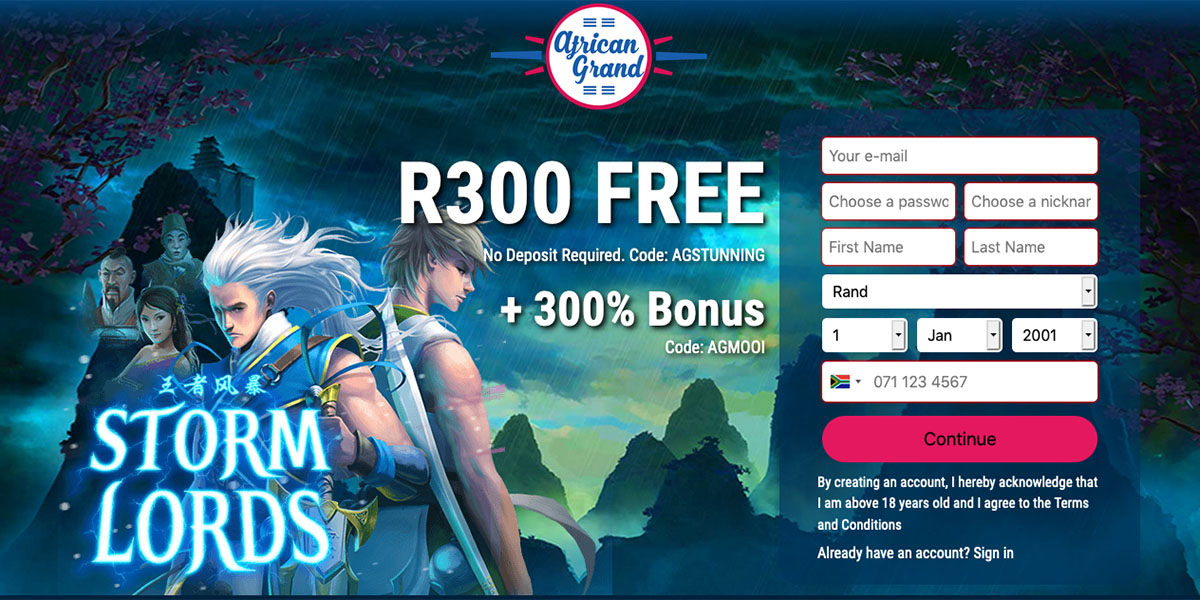 African Grand Casino Online South Africa