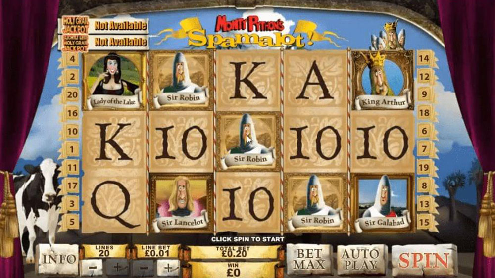 Monty Python's Spamalot Online Slot Casino Game