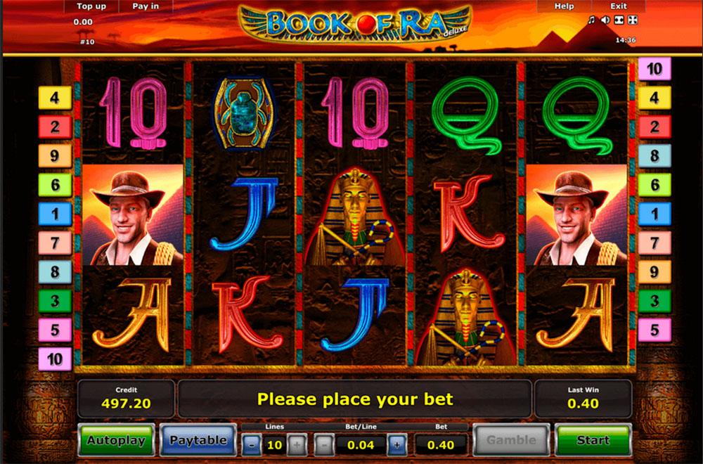 Book of Ra Online Slot Casino Game