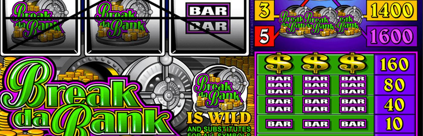 3 reel slots Break da Bank Online Casino Slots