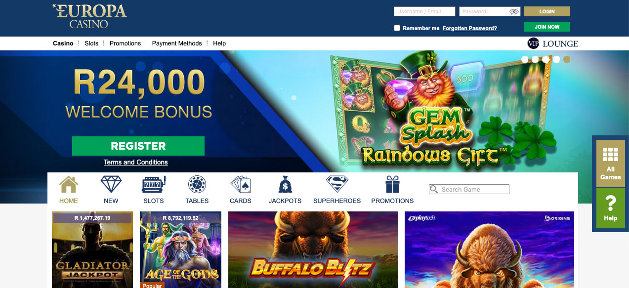Europa Casino Online South Africa